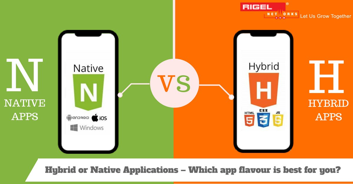 Differentiate between Hybrid and Native Mobile Application Development